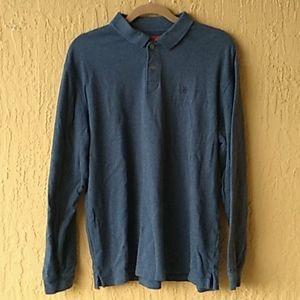 IZOD blue long slv mens shirt Sz L